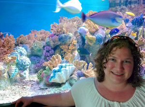 While Rowan spends most of her time studying fossil coral reefs, she has been known to dabble in modern reefs as well.